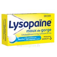 LysopaÏne Comprimés à Sucer Maux De Gorge Sans Sucre 2t/18 à Saint-Médard-en-Jalles