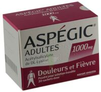 Aspegic Adultes 1000 Mg, Poudre Pour Solution Buvable En Sachet-dose 15 à Saint-Médard-en-Jalles