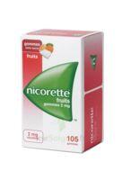 Nicorette 2 Mg Gomme à Mâcher Médicamenteuse Sans Sucre Fruits Plq/105 à Saint-Médard-en-Jalles
