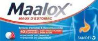 Maalox Maux D'estomac Hydroxyde D'aluminium/hydroxyde De Magnesium 400 Mg/400 Mg Sans Sucre Fruits Rouges, Comprimé à Croquer édulcoré à La Saccharine Sodique, Au Sorbitol Et Au Maltitol à Saint-Médard-en-Jalles