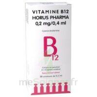 Vitamine B12 Horus Pharma 0,05 % Collyre Sol En Récipient Unidose 20unid/0,4ml à Saint-Médard-en-Jalles