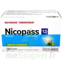 Nicopass 1,5 Mg Pastille Sans Sucre Menthe Fraîcheur Plq/96 à Saint-Médard-en-Jalles