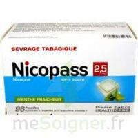 Nicopass 2,5 Mg Pastille Menthe Fraîcheur Sans Sucre Plq/96 à Saint-Médard-en-Jalles