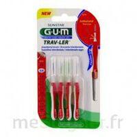 Gum Trav - Ler, 0,8 Mm, Manche Rouge , Blister 4 à Saint-Médard-en-Jalles
