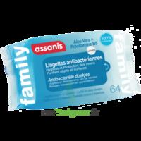 Assanis Family Lingette Antibactérien Mains Pochette/64 à Saint-Médard-en-Jalles
