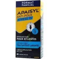 Apaisyl Anti-poux Xpress 15' Lotion Antipoux Et Lente 200ml+peigne à Saint-Médard-en-Jalles