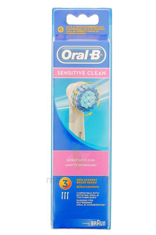 pharmacie corbiac parapharmacie brossette de rechange oral b sensitive clean x 3 saint. Black Bedroom Furniture Sets. Home Design Ideas